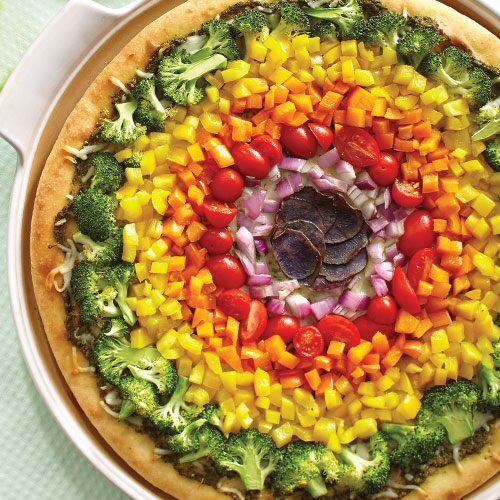 Rainbow Veggie Pizza