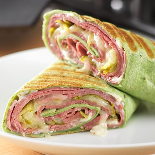 Corned Beef & Swiss Wraps