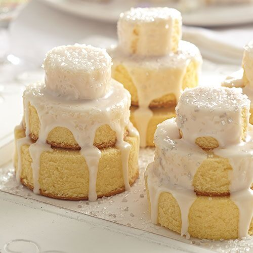 how to make small individual wedding cakes mini wedding cakes recipes pampered chef us site 15994