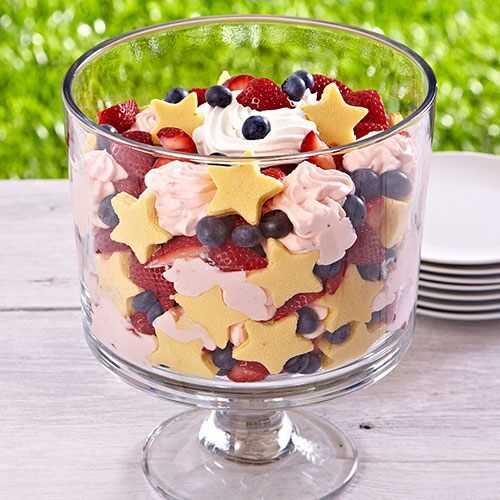 Stars and Berries Trifle