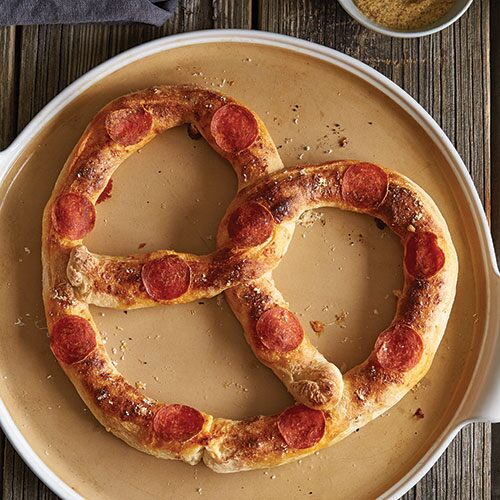 Pepperoni Pizza Stuffed Pretzel