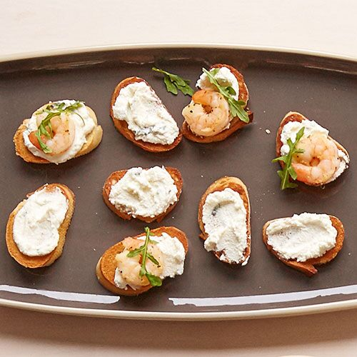 Crostini with Lemon-Basil Ricotta Spread