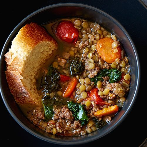 Kale Lentil Sausage Stew - Recipes | Pampered Chef US Site