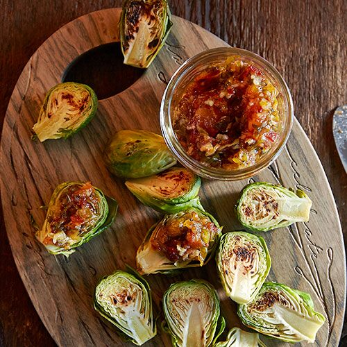 Brussels Sprouts Bites with Bacon Jam
