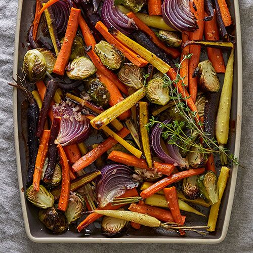 Roasted Vegetable Salad with Cider Vinaigrette