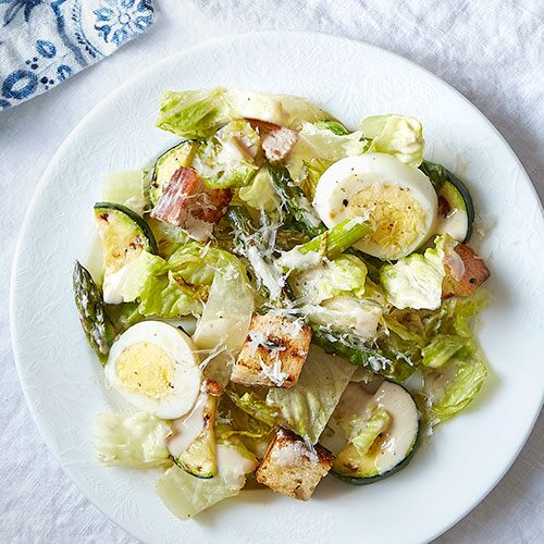 Skinny Caesar Salad With Grilled Romaine