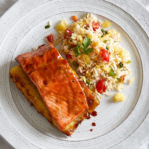 Pineapple Grilled Salmon