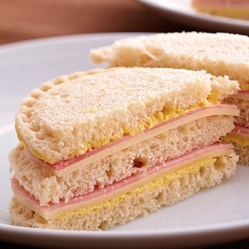 Mini Ham & Swiss Club-wiches