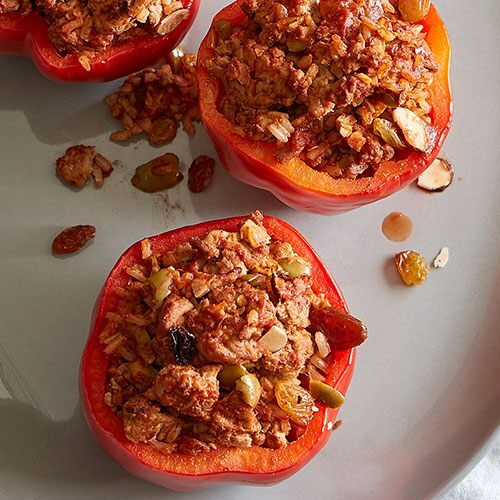 Turkey Picadillo Stuffed Peppers
