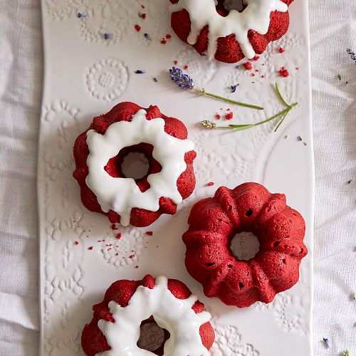 Mini Red Velvet Bundt Cakes