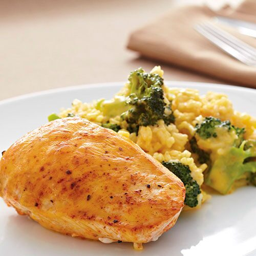 Cheddar Broccoli Chicken Skillet