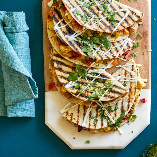 Turkey Sausage & Pepper Breakfast Quesadillas