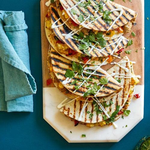 Turkey Sausage Pepper Breakfast Quesadillas Recipes