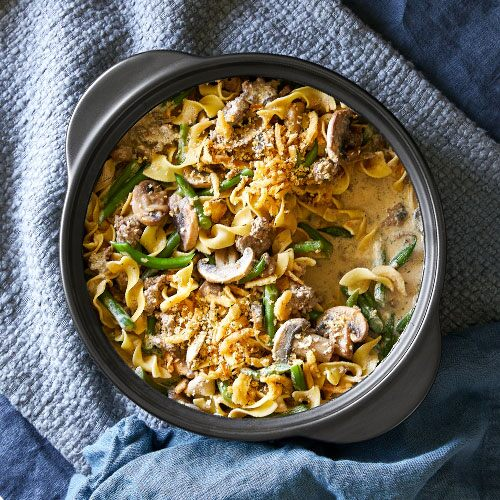Play Beef Stroganoff & Green Bean Casserole Video