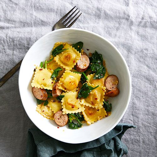 Chicken Sausage & Spinach Ravioli