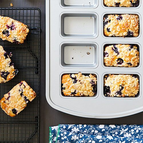 Mini Blueberry Streusel Loaves
