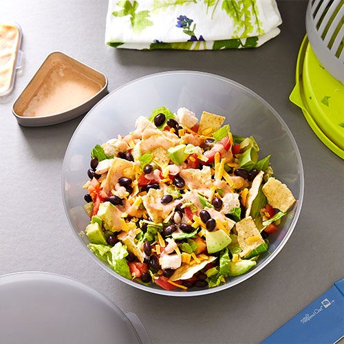 Southwestern Salad With BBQ-Lime Dressing