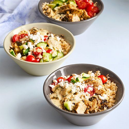 Quick Cooker Mediterranean Chicken & Rice Bowls
