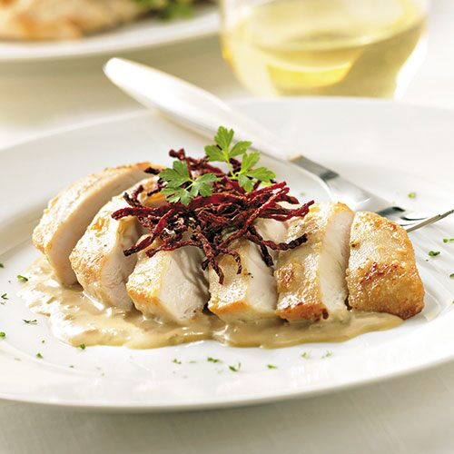Chicken with Dijon Vin Blanc Sauce