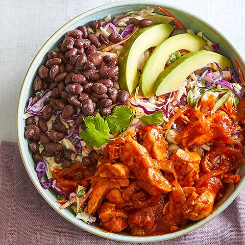 Quick Cooker BBQ Chicken Bowls