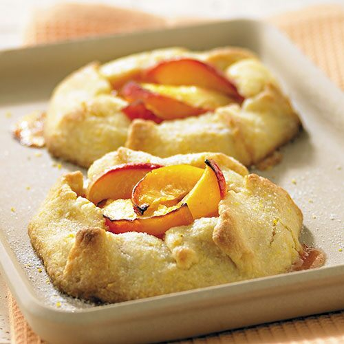 Cornmeal-Crusted Peach Tarts