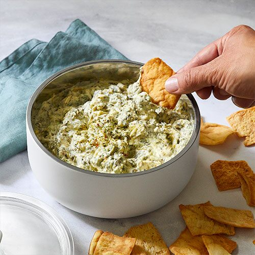 Quick Cooker Spinach & Artichoke Dip
