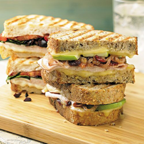 Turkey Panini with Onion-Cranberry Marmalade