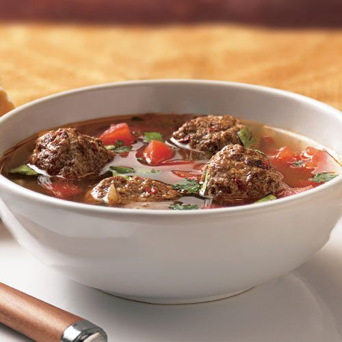 friend spicy meatball soup chorizo gives bold flavor to the meatballs ...
