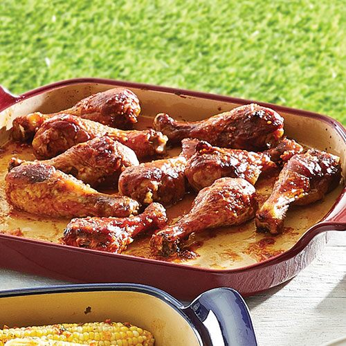 Barbecued Chicken Drumsticks