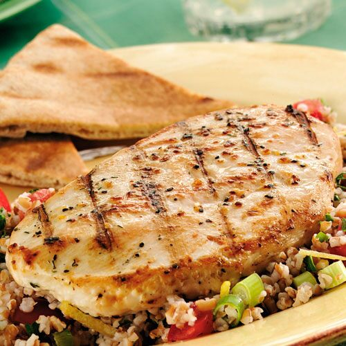 Grilled Lemon Chicken with Tabbouleh