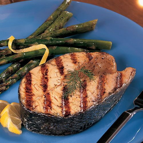 Lemon-Dill Grilled Salmon & Asparagus