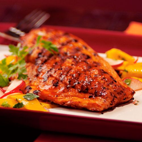 Grilled Red Snapper with Mango Salad