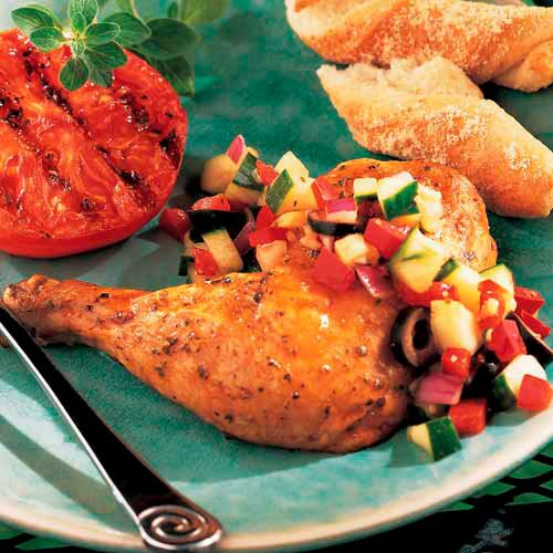 Lemon Chicken with Cucumber Salsa