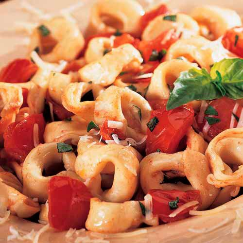 Tortellini with Fresh Tomato Basil Sauce