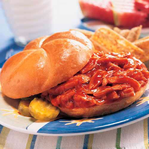 Saucy BBQ Chicken Sandwiches