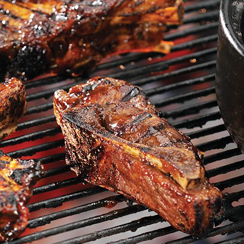 barbecued country style pork ribs a platter of tender meaty pork ribs ...