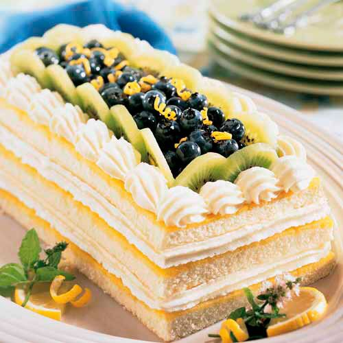 Lemon Blueberry Cheesecake Torte
