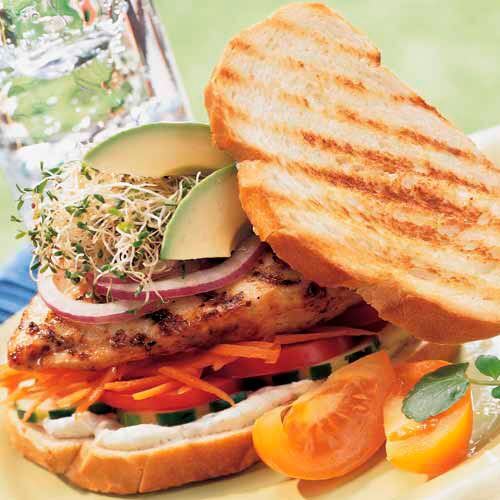 Grilled Chicken & Veggie Sandwiches