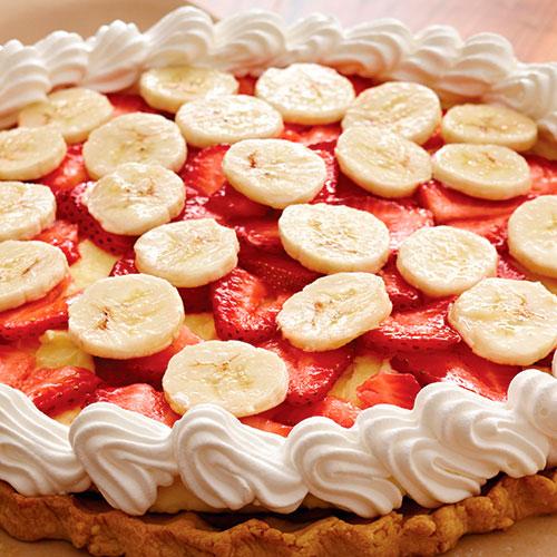 cream cheese and fruit pie
