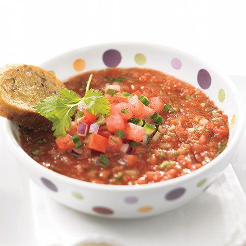 Cool Gazpacho with Watermelon