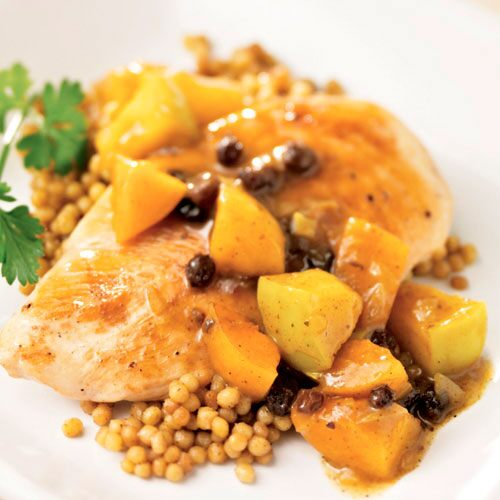 Curry Chicken with Warm Fruit Compote