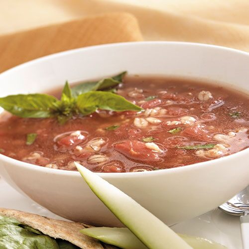 Roasted Tomato & Barley Soup