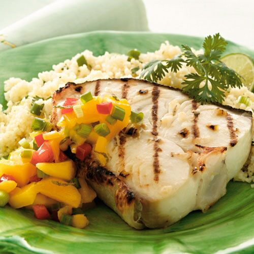 Caribbean Halibut with Mango Salsa