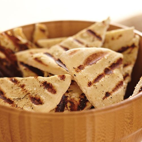 grilled pita bread wedges this easy side dish goes well with grilled ...