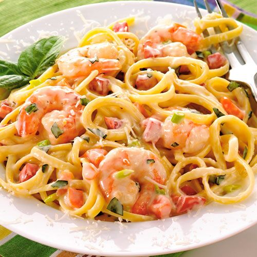 Shrimp and Linguine