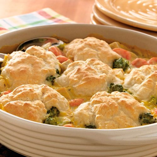 Turkey Vegetable Cobbler
