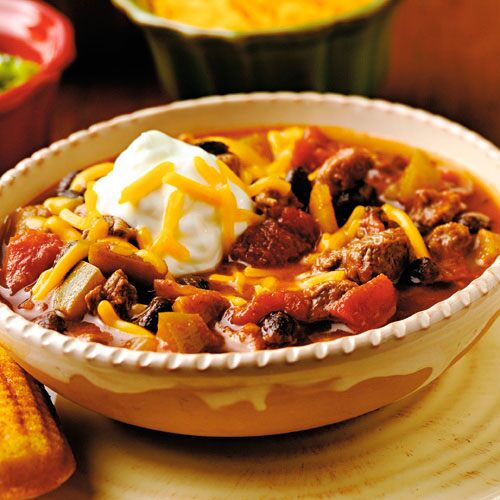 Oven Barbecue Chili