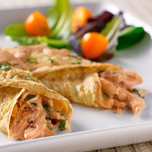 Creamy Chipotle Chicken Crêpes