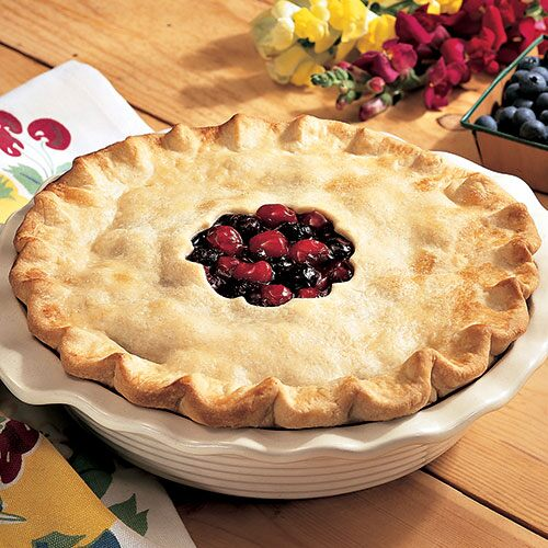 Old-Fashioned Cherry and Blueberry Pie