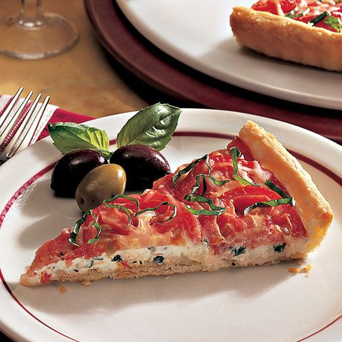 Three-Cheese Tomato Appetizer Tart